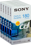 Sony 5-pack VHS CD Tape 5E180CD