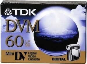 TDK DVM-60ME blank video tape